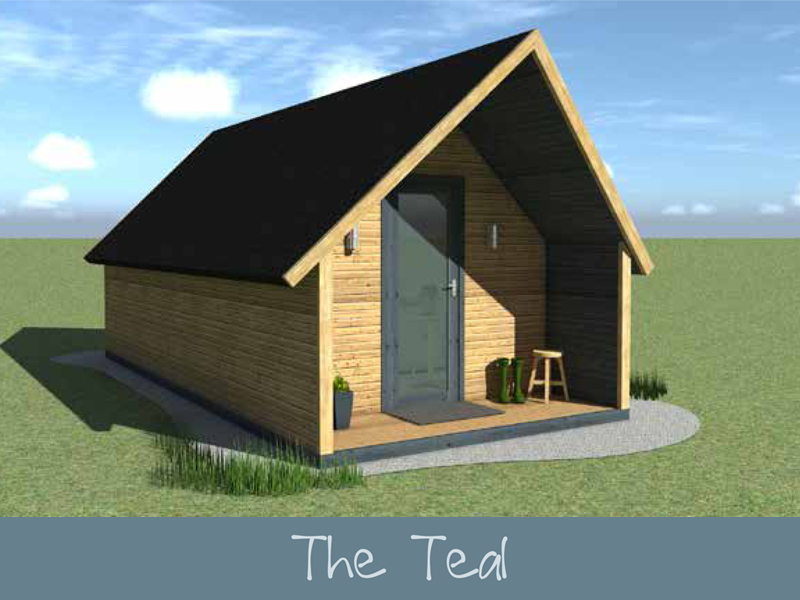TEAL (Tall) Glamping Pod