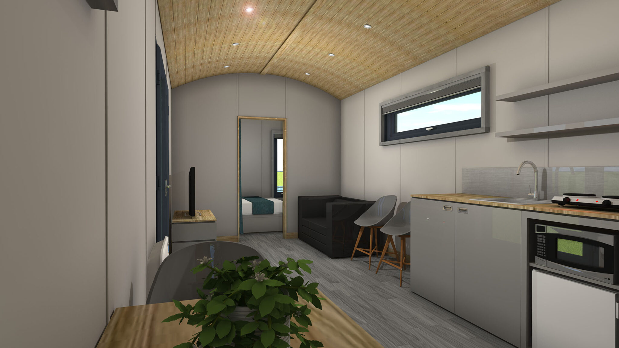Shepherd Hut Interior 2